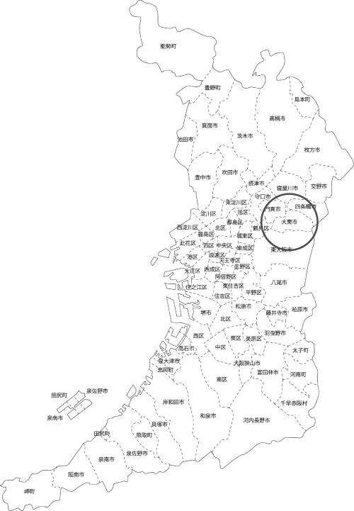 大東市の古本買取LP買取はBOOKS CHANNEL(公式) の地図画像