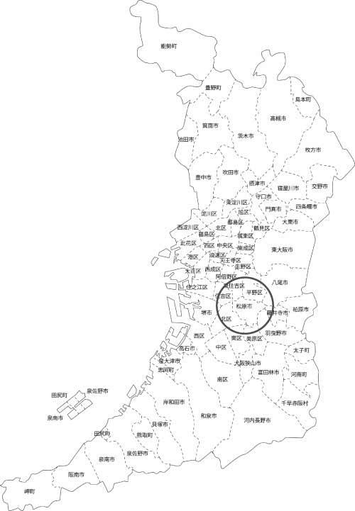 松原市の古本買取LP買取はBOOKS CHANNEL(公式) の地図画像