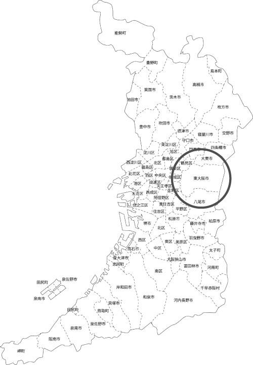 東大阪市本買取|古本買取|LP買取:出張買取 Formの地図画像