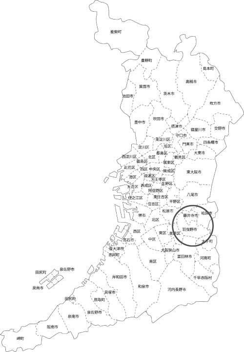 羽曳野市の古本買取LP買取はBOOKS CHANNEL の地図画像