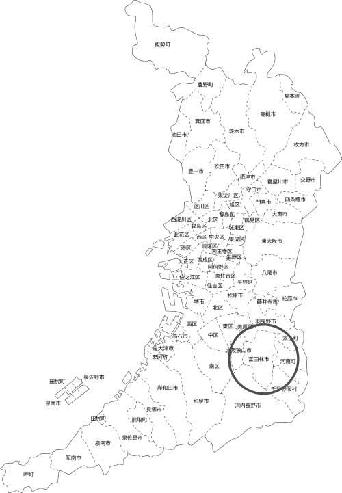 富田林市の古本買取LP買取はBOOKS CHANNEL の地図画像