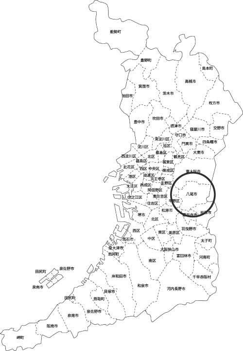 八尾市の古本買取LP買取はBOOKS CHANNEL の地図画像